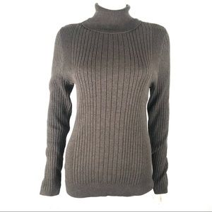 Croft & Barrow Large Turtleneck Ribbed Sweater New